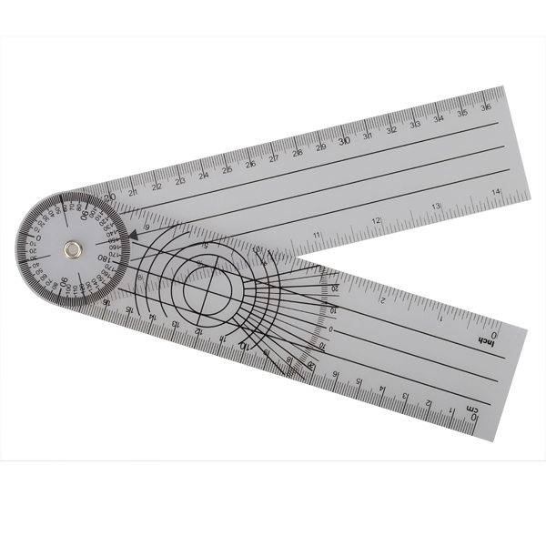 Professional 360 Degree Multi-Ruler Goniometer Angle Spinal Ruler_1
